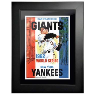1962 World Series Program Cover 18 x 14 Framed Print #2