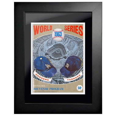 1963 World Series Program Cover 18 x 14 Framed Print #1