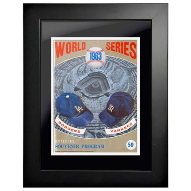 1963 World Series Program Cover 18 x 14 Framed Print #1