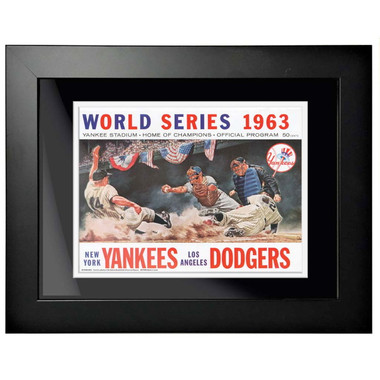 1963 World Series Program Cover 18 x 14 Framed Print #2