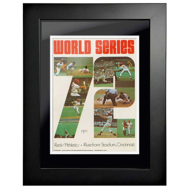 1972 World Series Program Cover 18 x 14 Framed Print #1