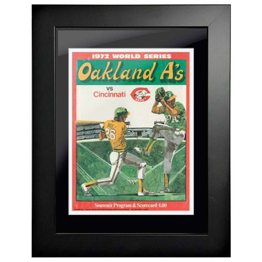 1972 World Series Program Cover 18 x 14 Framed Print #2
