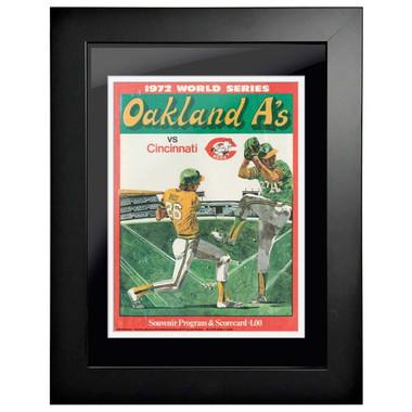 1972 World Series Program Cover 18 x 14 Framed Print #2