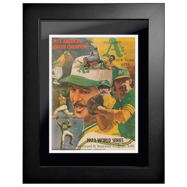 1973 World Series Program Cover 18 x 14 Framed Print #2