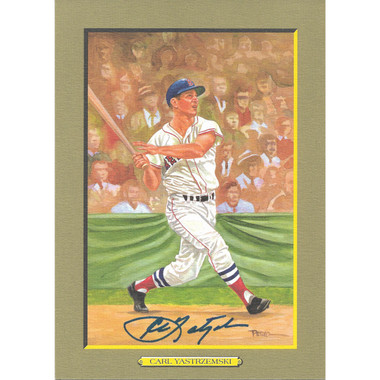 Carl Yastrzemski Autographed Perez-Steele Great Moments Jumbo Postcard # 72 (JSA)