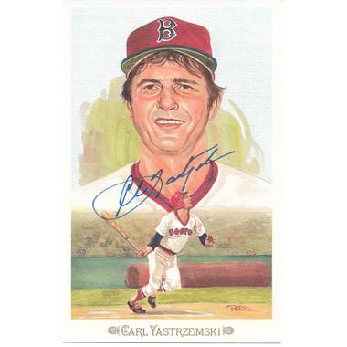 Carl Yastrzemski Autographed Perez-Steele Celebration Series Postcard #44 (JSA)