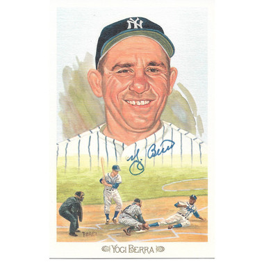 Yogi Berra Autographed Perez-Steele Celebration Series Postcard # 6 (JSA)
