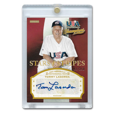 Tommy Lasorda Autographed Card 2013 Panini USA Stars & Stripes Signatures Ltd Ed of 250