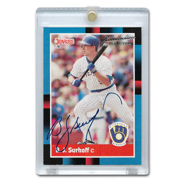 BJ Surhoff Autographed Card 2004 Donruss Timelines Recollections Ltd Ed of 69
