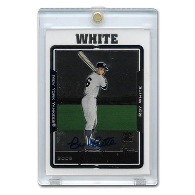 Roy White Autographed Card 2003 Topps Chrome Retired Players
