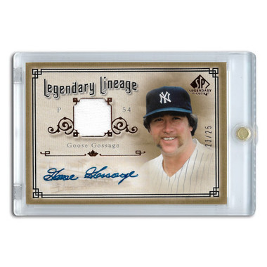 Goose Gossage Autographed Card 2005 SP Legends Legendary Lineage Ltd Ed of 25