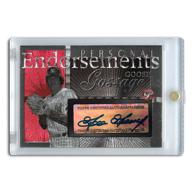 Goose Gossage Autographed Card 2005 Topps Pristine Personal Endorsements # GG