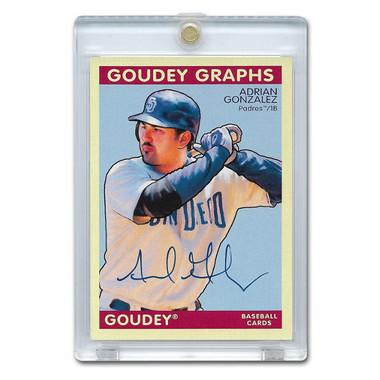 Adrian Gonzalez Autographed Card 2008 Upper Deck Goudey # GG-AG