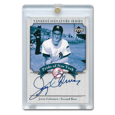 Jerry Coleman Autographed Card 2003 Upper Deck Yankees Signature Series #PN-JC