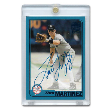 Tino Martinez Autographed Card 2019 Topps Archives Franchise Favorites Blue Ltd Ed of 25