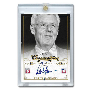 Peter Gammons Autographed Card 2012 Panini Cooperstown Ltd Ed of 300