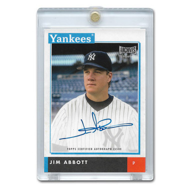 Jim Abbott Autographed Card 2020 Topps Archives Snapshots # AS-JA