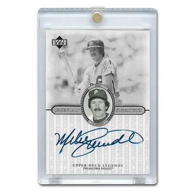 Mike Schmidt Autographed Card 2000 Upper Deck Century Legends