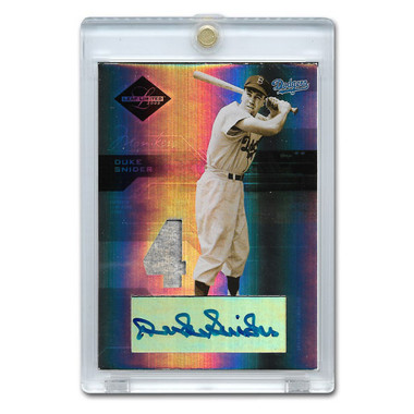 Duke Snider Autographed Card 2005 Leaf Limited # 158 Ltd Ed of 25