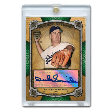 Duke Snider Autographed Card 2013 Topps Supreme Stylings Ltd Ed of 10
