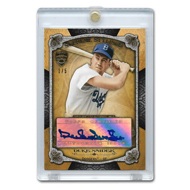 Duke Snider Autographed Card 2013 Topps Supreme Stylings Ltd Ed of 5