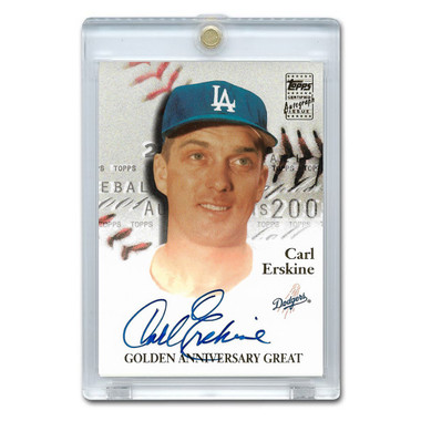 Carl Erskine Autographed Card 2001 Topps Golden Anniversary # GAA-CE