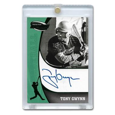 Tony Gwynn Autographed Card 2000 Press Pass Fusion #SS-TG Ltd Ed of 50