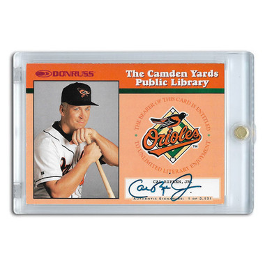 Cal Ripken Jr. Autographed Card 1997 Donruss Camden Yards Public Library Ltd Ed of 2,131