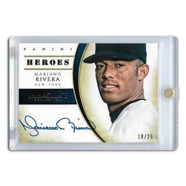 Mariano Rivera Autographed Card 2014 Panini Immaculate Heroes Ltd Ed of 25