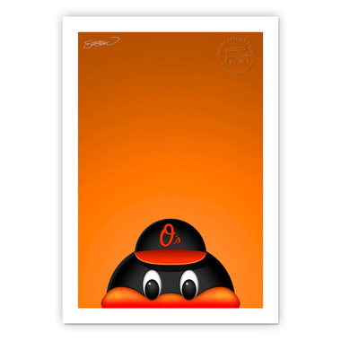Baltimore Orioles Minimalist MLB Mascots Collection 14 x 20 Fine Art Print by artist S. Preston - Ltd Ed of 350