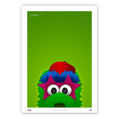 Philadelphia Phillies Phanatic Minimalist MLB Mascots Collection 14 x 20 Fine Art Print by artist S. Preston - Ltd Ed of 350