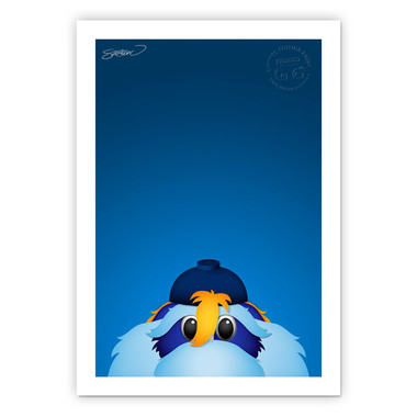 Tampa Bay Rays Raymond Minimalist MLB Mascots Collection 14 x 20 Fine Art Print by artist S. Preston - Ltd Ed of 350