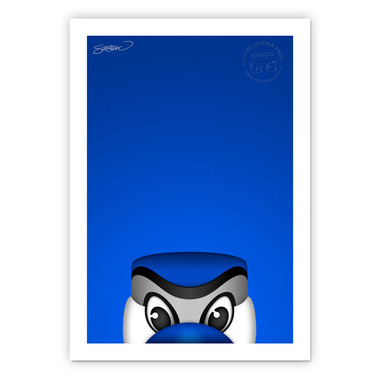 Toronto Blue Jays Ace Minimalist MLB Mascots Collection 14 x 20 Fine Art Print by artist S. Preston - Ltd Ed of 350