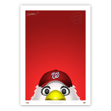 Washington Nationals Screech Minimalist MLB Mascots Collection 14 x 20 Fine Art Print by artist S. Preston - Ltd Ed of 350