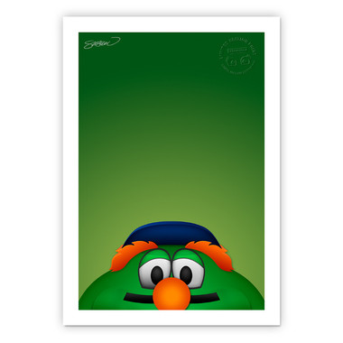 Boston Red Sox Wally Minimalist MLB Mascots Collection 14 x 20 Fine Art Print by artist S. Preston - Ltd Ed of 350