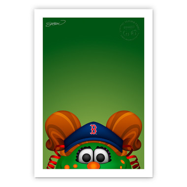 Boston Red Sox Tessie Minimalist MLB Mascots Collection 14 x 20 Fine Art Print by artist S. Preston - Ltd Ed of 350