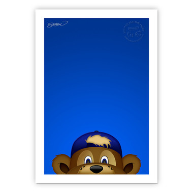 Chicago Cubs Clark Minimalist MLB Mascots Collection 14 x 20 Fine Art Print by artist S. Preston - Ltd Ed of 350