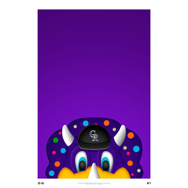 Colorado Rockies Dinger Minimalist MLB Mascots Collection 14 x 20 Fine Art Print by artist S. Preston - Ltd Ed of 350