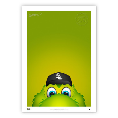 Chicago White Sox Southpaw Minimalist MLB Mascots Collection 14 x 20 Fine Art Print by artist S. Preston - Ltd Ed of 350