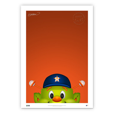 Houston Astros Orbit Minimalist MLB Mascots Collection 14 x 20 Fine Art Print by artist S. Preston - Ltd Ed of 350