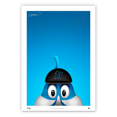 Miami Marlins Billy Minimalist MLB Mascots Collection 14 x 20 Fine Art Print by artist S. Preston - Ltd Ed of 350