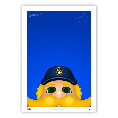 Milwaukee Brewers Bernie Brewer Minimalist MLB Mascots Collection 14 x 20 Fine Art Print by artist S. Preston - Ltd Ed of 350