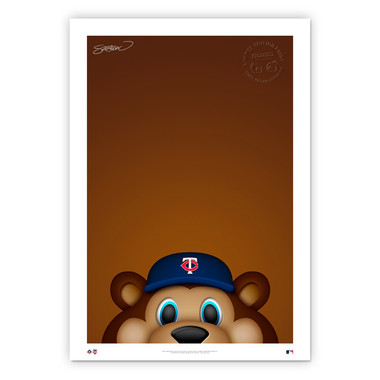 Minnesota Twins TC Bear Minimalist MLB Mascots Collection 14 x 20 Fine Art Print by artist S. Preston - Ltd Ed of 350