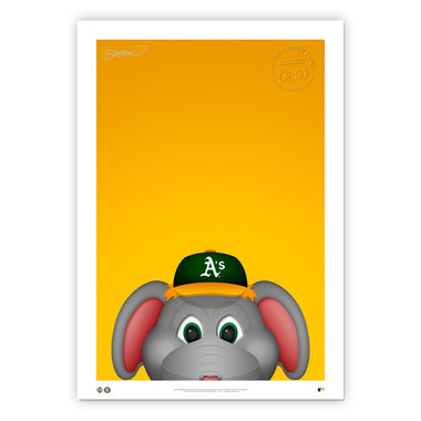 Oakland Athletics Stomper Minimalist MLB Mascots Collection 14 x 20 Fine Art Print by artist S. Preston - Ltd Ed of 350