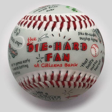 Die-Hard Fan at Citzens Bank Park Unforgettaballs Limited Commemorative Baseball with Lucite Gift Box