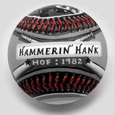 Hank Aaron G.O.A.T. Unforgettaballs Limited Commemorative Baseball with Lucite Gift Box