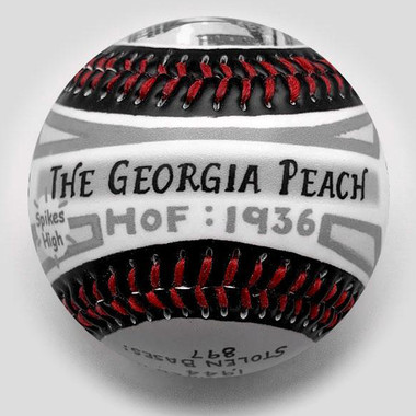 Ty Cobb G.O.A.T. Unforgettaballs Limited Commemorative Baseball with Lucite Gift Box