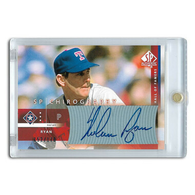 Nolan Ryan Autographed Card 2003 SP Authentic Chirography Ltd Ed of 170