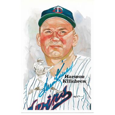 Harmon Killebrew Autographed Perez-Steele HOF Series Postcard # 188 (JSA-05)