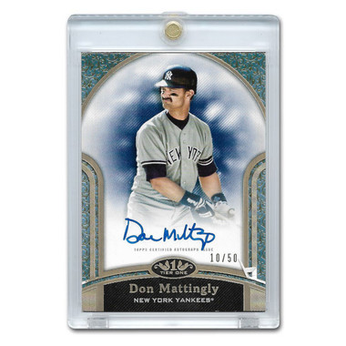 Don Mattingly Autographed Card 2020 Topps Tier One Next Level Ltd Ed of 50